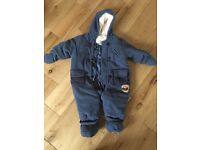 Baby all in one winter suit 9-12 months