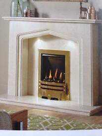 "48"" marble fireplace read description"