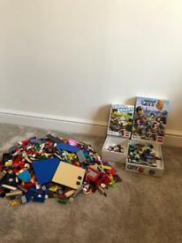 2 Lego games plus lots of Lego including figures