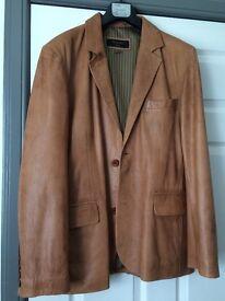 Men's Tan Italian Leather Jacket