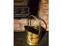 Vintage Bates Brass Of Birmingham Hand Hammered Brass Coal Scuttle