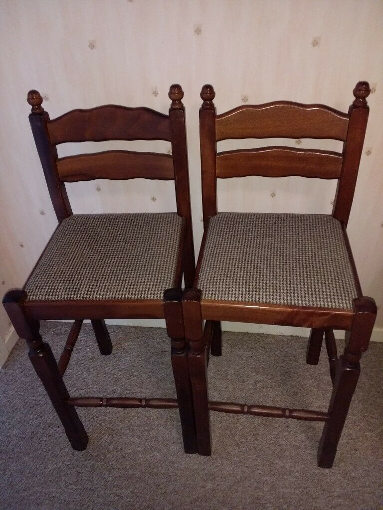 Bar Stools / Tall High Chairs - Solid Wood