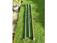 Sash clamps, 3 x heavy-duty 1700mm T bar cast iron sash clamps
