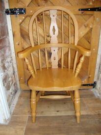 Quality Built,Beech Hardwood,Child's, Windsor Chair.