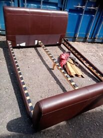 Brown King size bed frame
