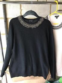 Set of 2 X Bejewelled Topshop Jumpers