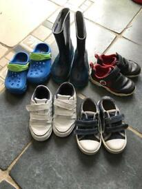 Five pairs boys footwear size7