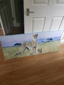 Leopard canvas print.
