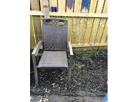 2 LEFT LUXURY STACKABLE REALLY COMFY GARDEN CHAIRS