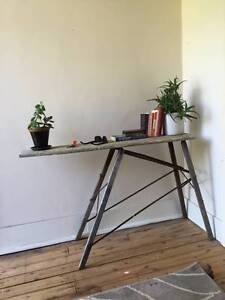 Vintage Wooden Side Table / Ironing Board Petersham Marrickville Area Preview