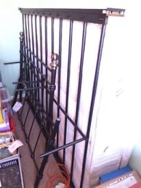 Black double metal frame bed. Choice of one from two.