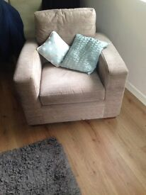 2seater sofa and single arm chair