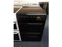 £190 Black Hotpoint 60cm Ceramic Top Cooker - 12 Months Warranty