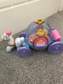 Little people Cinderella carriage with Cinderella