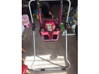 FREE DELIVERY FOLDING INDOOR UNISEX BABY TODDLER SWING ADJUSTABLE RECLINING HARDLY USED