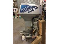 50HP SUZUKI OUTBOARD BOAT ENGINE LONG SHAFT POWER TILT & TRIM SPARES OR REPAIR