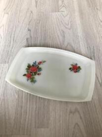 Vintage Floral Serving Plate / Dish