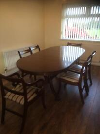 SOLD**Extending Dining Table and 6 Chairs
