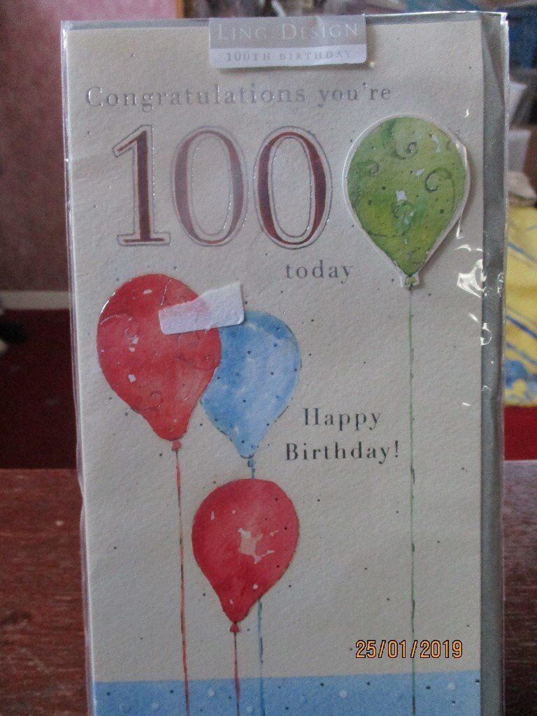 100 Years Young Today Birthday Card