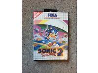 Sonic 2 The Hedgehog Sega Master System Game