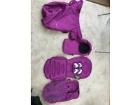Oyster pram purple colour pack plus extras