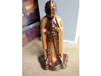 Medieval Knight in Armour Vintage Fireplace Tools
