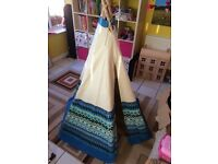 Wig Wam Tee Pee Tent Aztec blue in great condition
