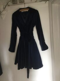 Midnight blue velvet coat