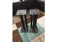 Acoustic Speaker Stands x 2 Black Metal