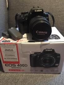 Canon EOS 400D with basic EF-S 18-55mm lens