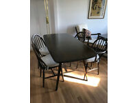 Ercol dinning table and four chairs