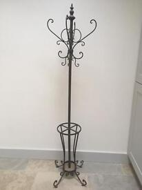 Cast iron coat and hat stand