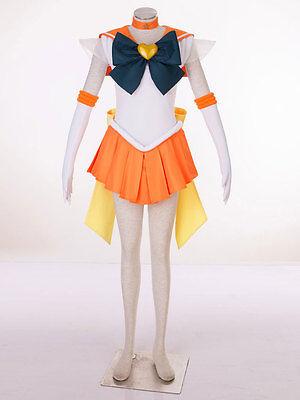 Cosplay Sailor moon sailor venus Aino Minako Super S Kleider Costumes (Sailor Moon Venus Kostüm)