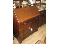 VINTAGE BUREAU WITH FITTED INTERIOR. LOCK & KEY. VIEWING - DELIVERY - COLLECTION