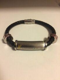 Liverpool bracelet mens magnetic/leather