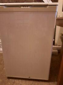 Three fridges and freezer various sizes