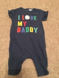 Next 'I love my daddy' romper - Up To 1 Month