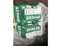 K Rend grey plastering finish.