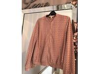 Zara jacket pink size small