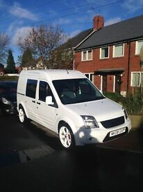 FORD TRANSIT CONNECT 08 REG 1.8 DIESEL LONG MOT VERY SMART VAN FITTED REAR SEATS DRIVES WELL