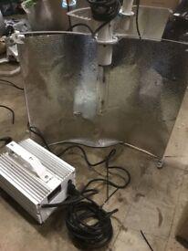 Used 600w Powerplant Mantis Shade Adjustable Reflector Digital Ballast Light Kit