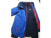 3 in 1 royal blue karrimor child's age 11-12 jacket