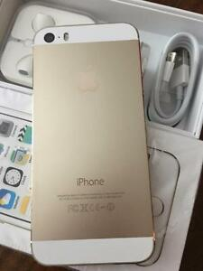 Unlocked iPhone 5S 16 Gb Gold Like New With Box  CALL   647-875-7109