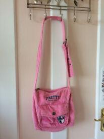 Girl's corduroy pink shoulder bag