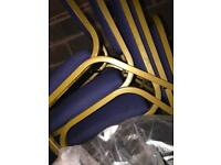 Blue and Gold Banqueting Chairs