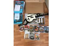 Nintendo Wii bundle and guitar