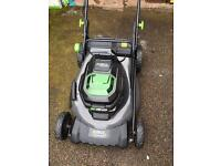 EGO LM2011 battery powered push mower with 5.0 ah 56 volt battery and charger included
