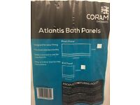New White Coram Showers Atlantis Bath Panels (end and side)