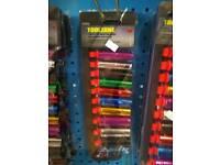 10pc 3/8 deep coloured sockets