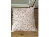 Orange and white IKEA cushions. 40 x 40cm. 15 available in total